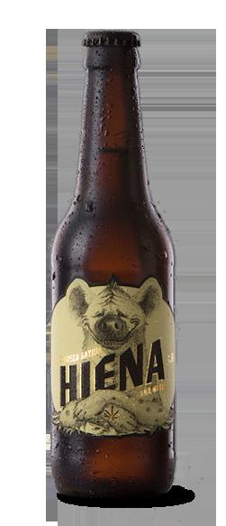 diseño de etiqueta ara cerveza HIENA